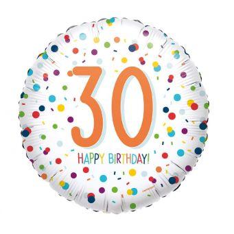 Birthday Cheer 30th Balloon