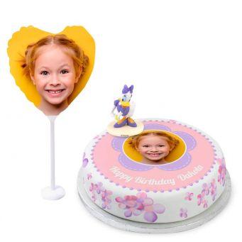 Daisy Duck Photo Cake