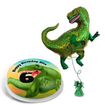 T-Rex Number gift set