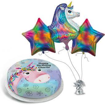 Glitzy Rainbow Unicorn Gift Set