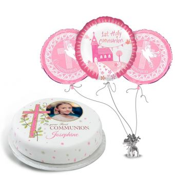Pink Photo Communion Gift Set