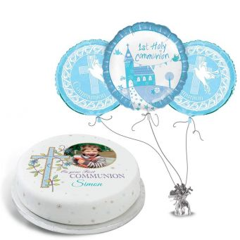 Blue Photo Communion Gift Set