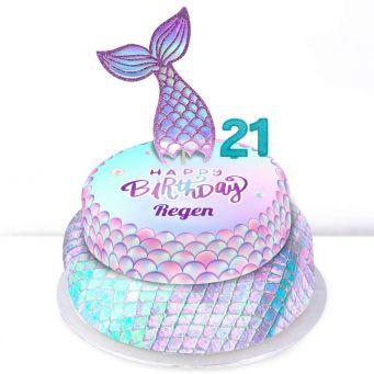 21st Birthday Mermaid Cake
