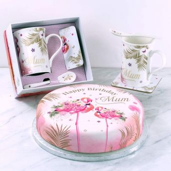 Floral Flamingo Gift Set