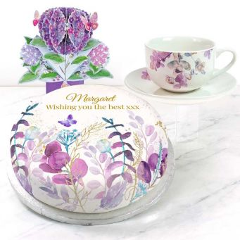 Purple Polka Gift Set