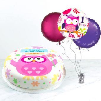 1st Birthday Owl Gift Set