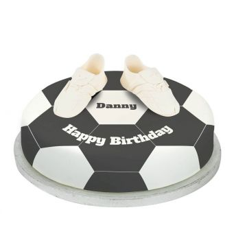 white football boots cake