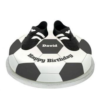 Black Football Boots Cake
