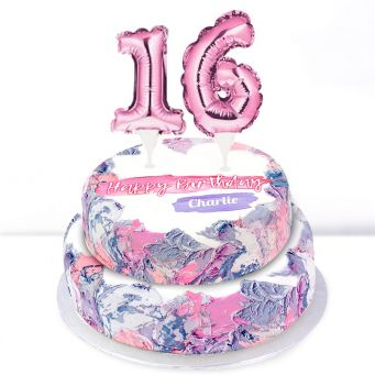 16th Birthday Ombre Cake