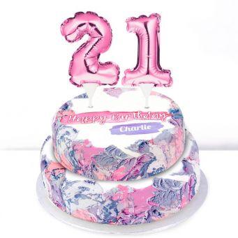 21st Birthday Ombre Cake