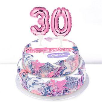 30th Birthday Ombre Cake