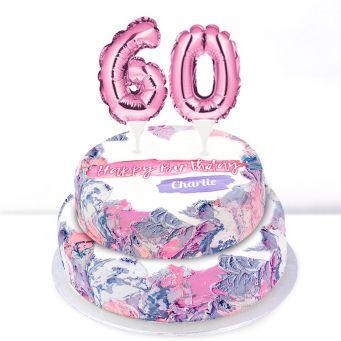 60th Birthday Ombre Cake
