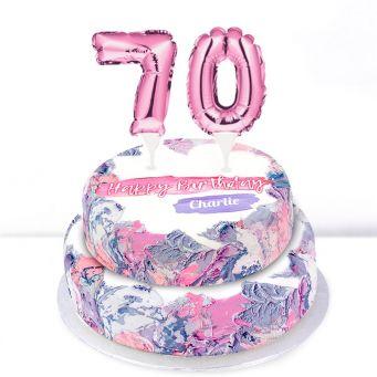 70th Birthday Ombre Cake