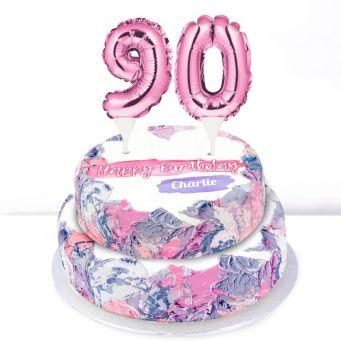 90th Birthday Ombre Cake