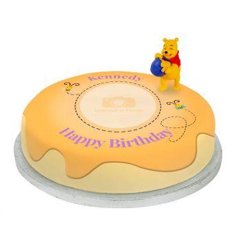 Winnie The Pooh Photo Cake