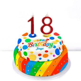 18th Birthday Polka Dot Cake