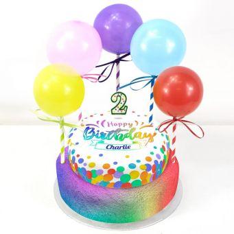 2nd Birthday Balloons Cake
