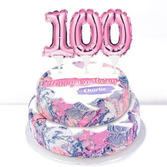 100th Birthday Ombre Cake