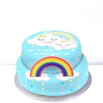 Rainbow Baby Cake