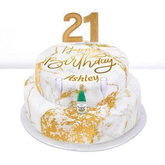 21st Birthday Champagne Cake
