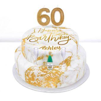 60th Birthday Champagne Cake