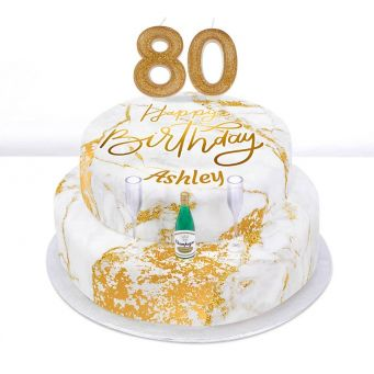 80th Birthday Champagne Cake