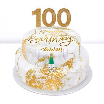 100th Birthday Champagne Cake