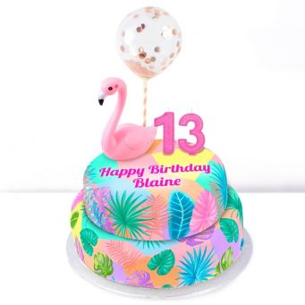 13th Birthday Flamingo Cake