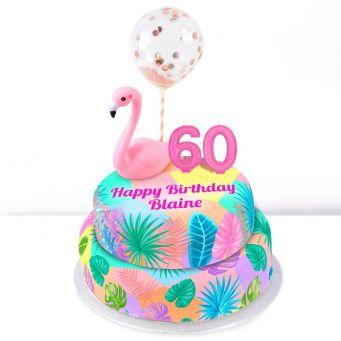 60th Birthday Flamingo Cake