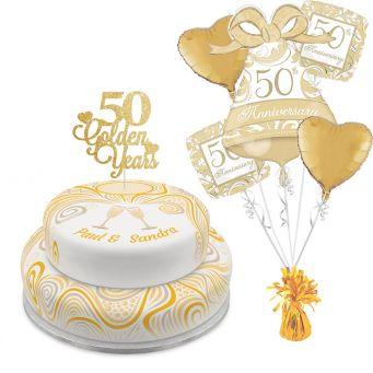 Golden Anniversary Tiered Set