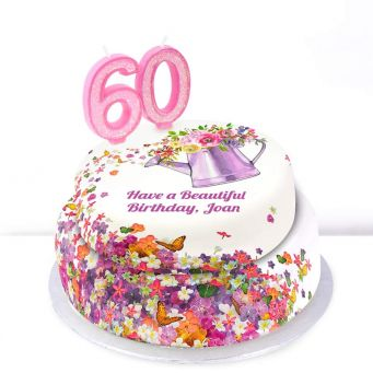 60th Birthday Gardening Cake