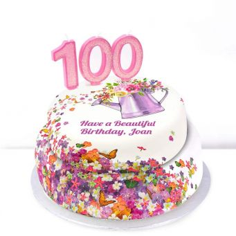 100th Birthday Gardening Cake
