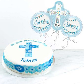 Blue Christening Gift Set