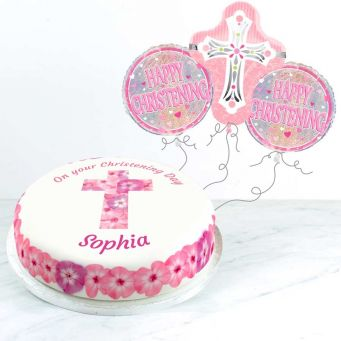Pink Christening Gift Set