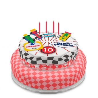 Tiered Racing Car Cake