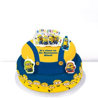 Minions Tiered Cake