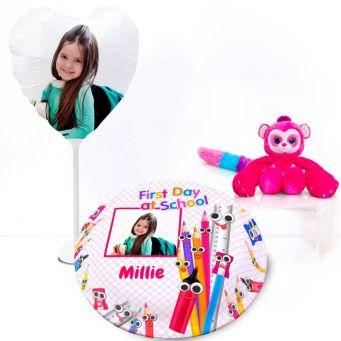Pink Monkey Gift Set