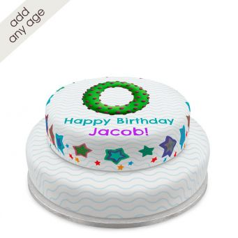 Any Age Bobble Tiered Cake