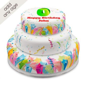 Any Age Rainbow Tiered Cake
