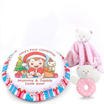1st Christmas Pink Gift Set