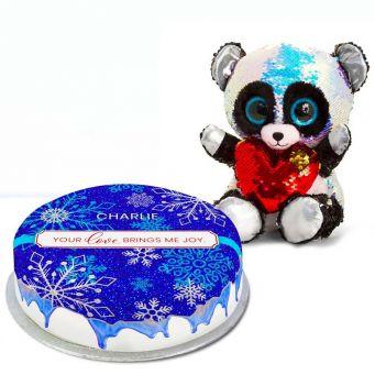 Glitzy Panda Christmas Gift Set