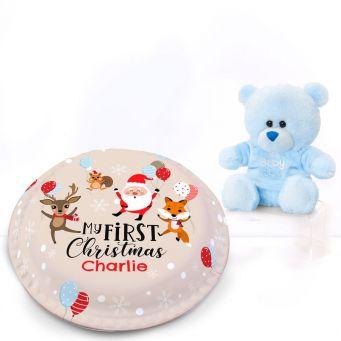 1st Christmas Blue Gift Set