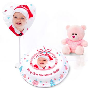 Red Stocking Ted Gift Set