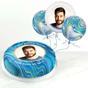 Blue Marble Photo Gift Set