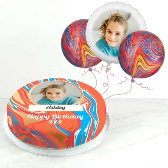 Red Marble Photo Gift Set
