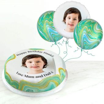 Green Marble Photo Gift Set