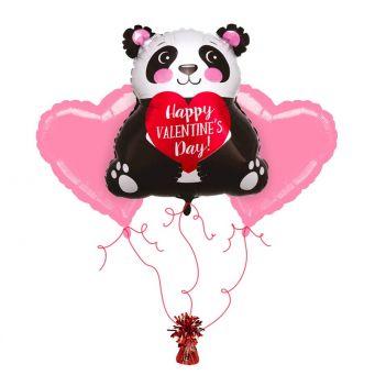 Panda Hearts Balloon Bouquet
