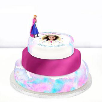 Disney Anna Photo Cake