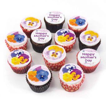 12 Floral Mum Cupcakes
