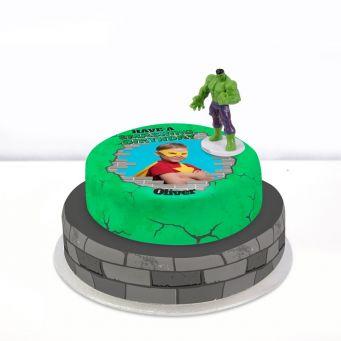 Hulk Photo Cake